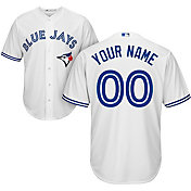 Majestic Men's Custom Cool Base Replica Toronto Blue Jays Home White Jersey