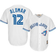 Majestic Men's Replica Toronto Blue Jays Roberto Alomar Cool Base White Cooperstown Jersey