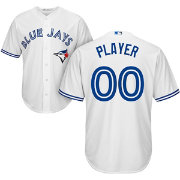 Majestic Men's Full Roster Cool Base Replica Toronto Blue Jays Home White Jersey