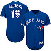 Majestic Men's Authentic Toronto Blue Jays Jose Bautista #19 Alternate Royal Flex Base On-Field Jersey