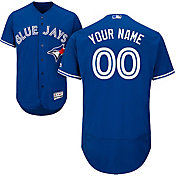 Majestic Men's Custom Authentic Toronto Blue Jays Flex Base Alternate Royal On-Field Jersey