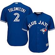 Majestic Men's Replica Toronto Blue Jays Troy Tulowitzki #2 Cool Base Alternate Royal Jersey