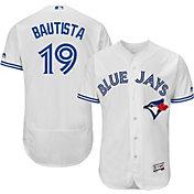 Majestic Men's Authentic Toronto Blue Jays Jose Bautista #19 Home White Flex Base On-Field Jersey