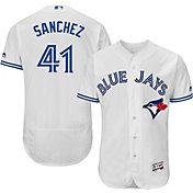 Majestic Men's Authentic Toronto Blue Jays Aaron Sanchez #41 Home White Flex Base On-Field Jersey