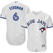 Majestic Men's Authentic Toronto Blue Jays Marcus Stroman #6 Home White Flex Base On-Field Jersey