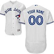 Majestic Men's Custom Authentic Toronto Blue Jays Flex Base Home White On-Field Jersey