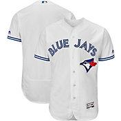 Majestic Men's Authentic Toronto Blue Jays Home White Flex Base On-Field Jersey