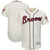 Majestic Men's Authentic Atlanta Braves Alternate Ivory Flex Base On-Field Jersey