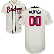 Majestic Men's Full Roster Authentic Atlanta Braves Flex Base Alternate Ivory On-Field Jersey