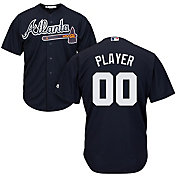 Majestic Men's Full Roster Cool Base Replica Atlanta Braves Alternate Navy Jersey