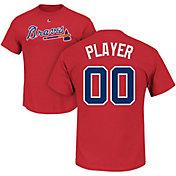 Majestic Men's Full Roster Atlanta Braves Red T-Shirt