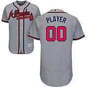 Majestic Men's Full Roster Authentic Atlanta Braves Flex Base Road Grey On-Field Jersey
