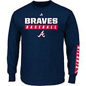 Majestic Men's Atlanta Braves Proven Pastime Navy Long Sleeve Shirt
