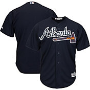 Majestic Men's Replica Atlanta Braves Cool Base Alternate Navy Jersey