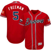 Majestic Men's Authentic Atlanta Braves Freddie Freeman #5 Alternate Red Flex Base On-Field Jersey