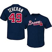 Majestic Triple Peak Men's Atlanta Braves Julio Teheran Navy T-Shirt