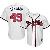 Majestic Men's Replica Atlanta Braves Julio Teheran #49 Cool Base Home White Jersey