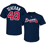 Majestic Triple Peak Men's Atlanta Braves Julio Teheran Navy T-Shirt