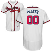 Majestic Men's Full Roster Authentic Atlanta Braves Flex Base Home White On-Field Jersey