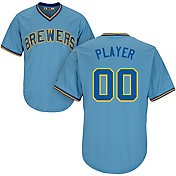 Majestic Men's Full Roster Cool Base Cooperstown Replica Milwaukee Brewers 1982 Light Blue Jersey