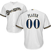Majestic Men's Full Roster Cool Base Replica Milwaukee Brewers Home White Jersey
