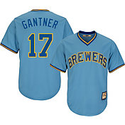 Majestic Men's Replica Milwaukee Brewers Jim Gantner Cool Base Light Blue Cooperstown Jersey