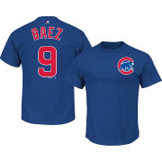 Majestic Men's Chicago Cubs Javier Baez #9 Royal T-Shirt