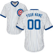 Majestic Men's Custom Cool Base Cooperstown Replica Chicago Cubs 1968-69 White Jersey