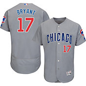 Majestic Men's Authentic Chicago Cubs Kris Bryant #17 Road Grey Flex Base On-Field Jersey