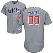 Majestic Men's Full Roster Authentic Chicago Cubs Flex Base Road Grey On-Field Jersey