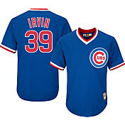 Majestic Men's Replica Chicago Cubs Monte Irvin Cool Base Royal Cooperstown Jersey