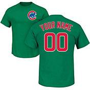 Majestic Men's Custom Chicago Cubs Green T-Shirt