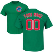 Majestic Men's Custom Chicago Cubs Green T-Shirt