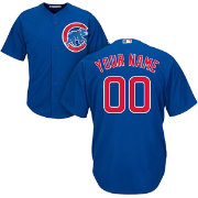 Majestic Men's Custom Cool Base Replica Chicago Cubs Alternate Royal Jersey