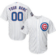 Majestic Men's Custom Replica 2016 World Series Champions Chicago Cubs Cool Base Home White Jersey