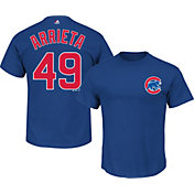 Majestic Triple Peak Men's Chicago Cubs Jake Arrieta Royal T-Shirt
