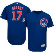 Majestic Men's Authentic Chicago Cubs Kris Bryant #17 Alternate Royal Flex Base On-Field Jersey