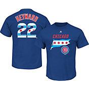Majestic Men's Chicago Cubs Jason Heyward #22 Royal State Flag T-Shirt