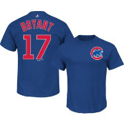 Majestic Men's Chicago Cubs Kris Bryant #17 Royal T-Shirt