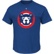 Majestic Men's Chicago Cubs Cooperstown Logo Royal T-Shirt