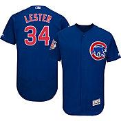 Majestic Men's Authentic Chicago Cubs Jon Lester #34 Alternate Royal Flex Base On-Field Jersey