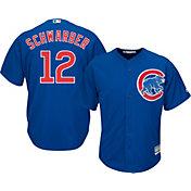 Majestic Men's Replica Chicago Cubs Kyle Schwarber #12 Cool Base Alternate Royal Jersey