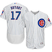 Majestic Men's Authentic Chicago Cubs Kris Bryant #17 Home White Flex Base On-Field Jersey