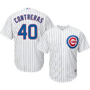 Majestic Men's Replica Chicago Cubs Willson Contreras #40 Cool Base Home White Jersey