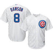Majestic Men's Replica Chicago Cubs Andre Dawson #8 Cool Base Home White Jersey