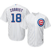 Majestic Men's Replica Chicago Cubs Ben Zobrist #18 Cool Base Home White Jersey