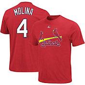 Majestic Triple Peak Men's St. Louis Cardinals Yadier Molina Red T-Shirt