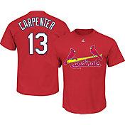 Majestic Triple Peak Men's St. Louis Cardinals Matt Carpenter Red T-Shirt