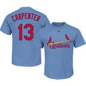 Majestic Men's St. Louis Cardinals Matt Carpenter #13 Light Blue Turn Back The Clock T-Shirt