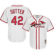 Majestic Men's Replica St. Louis Cardinals Bruce Sutter Cool Base White Cooperstown Jersey